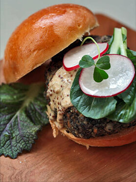 Smoky Yerba Mate Lentil Burger Recipe