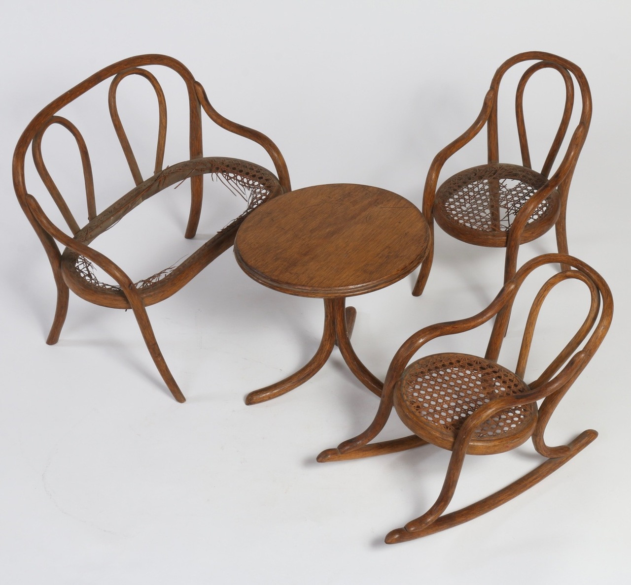 Ordinaire Thonet Bentwood Furniture, Salesman Sample Circa 1860