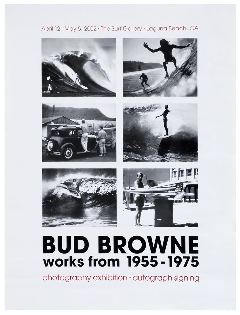 Bud Browne Works From 1955 1975 Surf Exhibit Poster