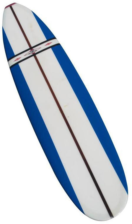 jacobs surfboard fully restored blue white and red early 1960s