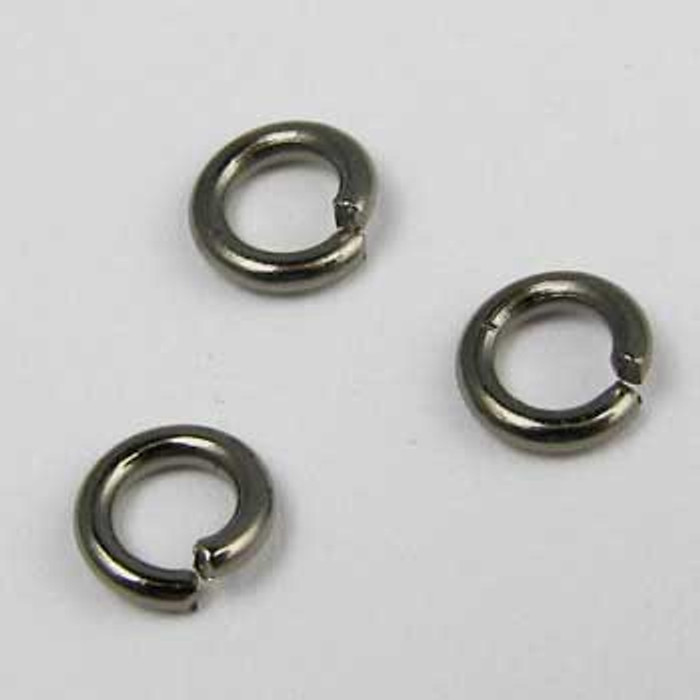 BLP003 - 6mm Open Jump Ring, Gunmetal Plated (pkg of 100)