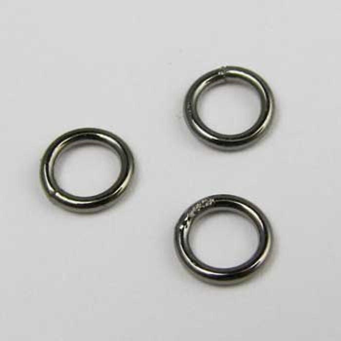 BLP004 - 6mm Closed Jump Ring, Gunmetal Plated (pkg of 50)