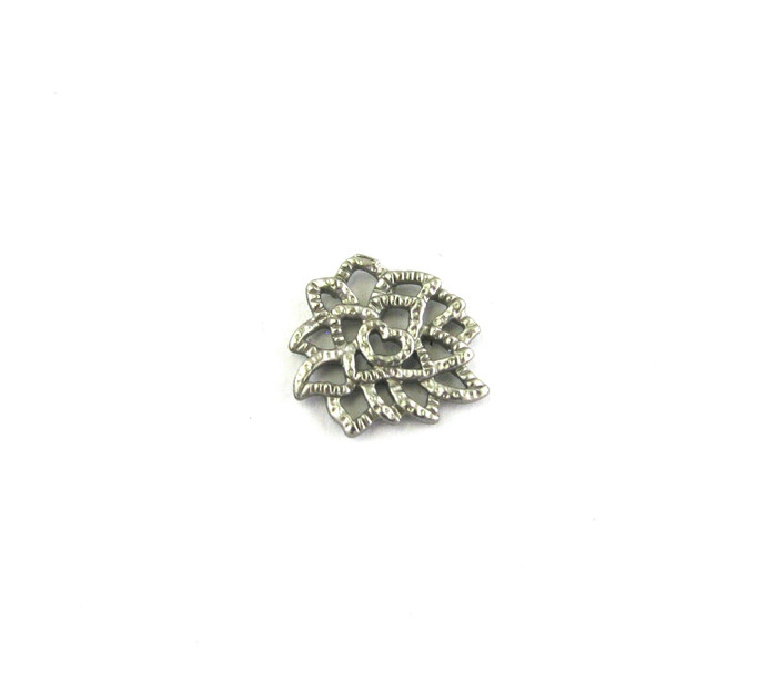 Satin Rhodium 13mm Small Designer Connector (Sold by the Piece)