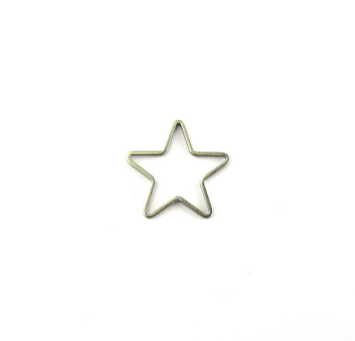Satin Rhodium 14mm Star Shaped Bauble. Can be used as a Pendant or Connector (Sold by the Piece)