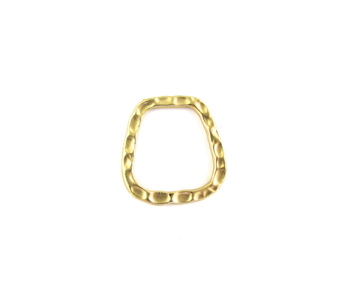 Satin Hamilton Gold 21mm Soldered Flat Textured Ring (Sold by the Piece)
