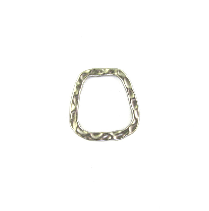 Satin Rhodium 21mm Soldered Flat Textured Ring (Sold by the Piece)
