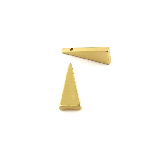 Satin Hamilton Gold 20mm Triangular Drop/Pendant (Sold by the Piece)