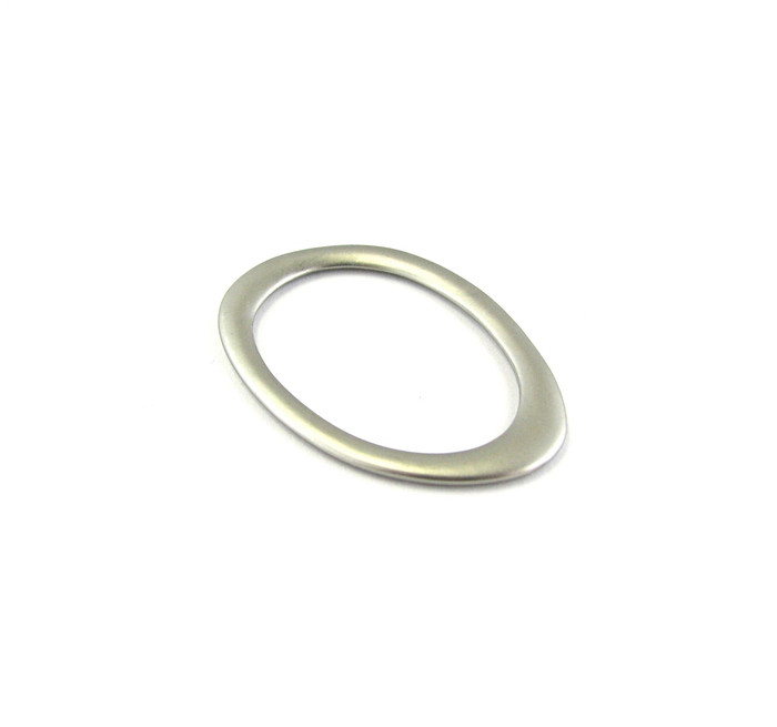 Satin Rhodium 40mm x 29mm Flattened Oval Designer Ring (Sold by the Piece)