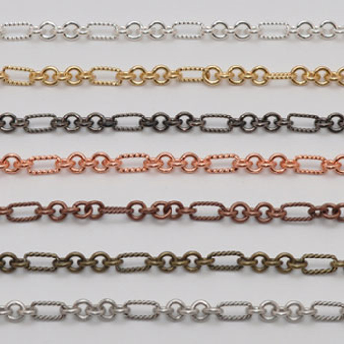 CH803-AB  - 5mm Chain, Electroplated (Antique Brass)  (Discontinued Limited Stock Available)