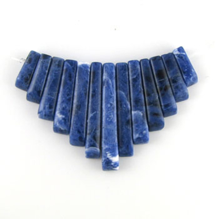 CL0011 - Sodalite Semi-Precious Stone Collar (13 pieces)
