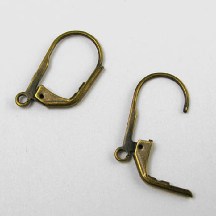 ABP017 - Lever Back Earring, Antique Brass Plated (5 pairs)