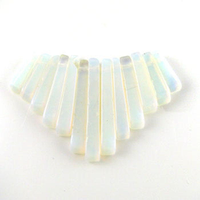 CL0023 - Opalite Semi-Precious Stone Collar (13 pieces)