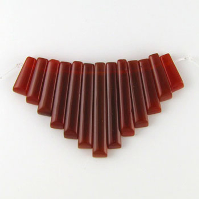 CL0025 - Carnelian Agate Semi-Precious Stone Collar (13 pieces)