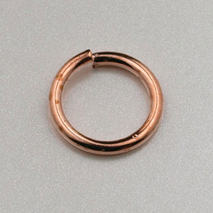 COP0021 - 8mm Open Jump Ring, Copper Plated (pkg of 100)