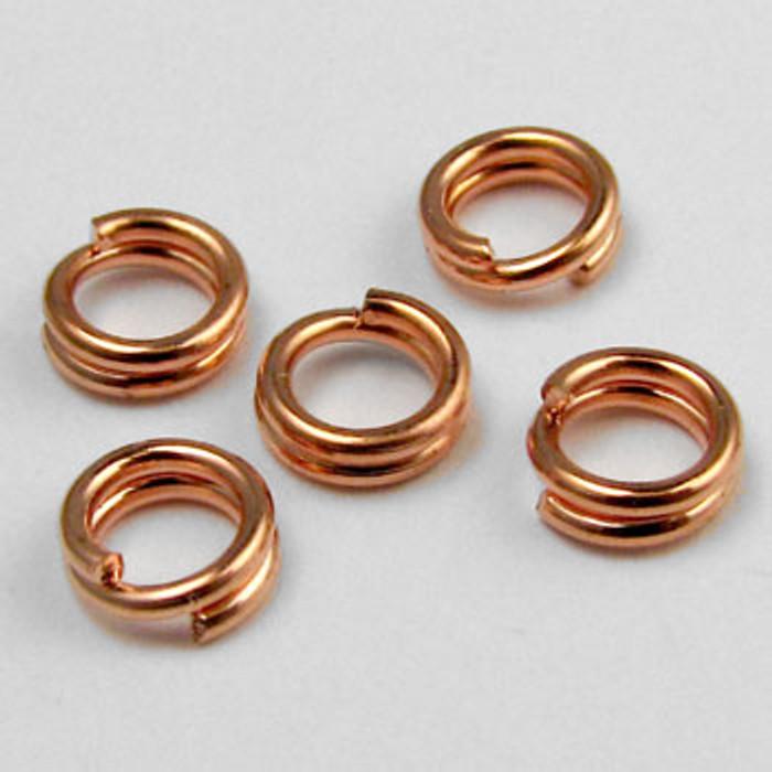 COP0023 - 5mm Split Ring, Copper Plated (pkg of 50)