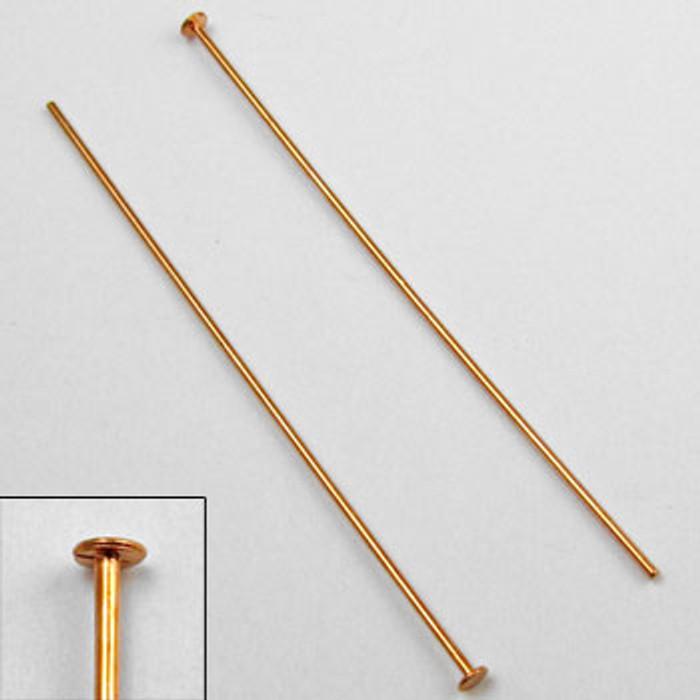 COP0024 - 2 in. Headpin, 20 gauge, Copper Plated (pkg of 50)