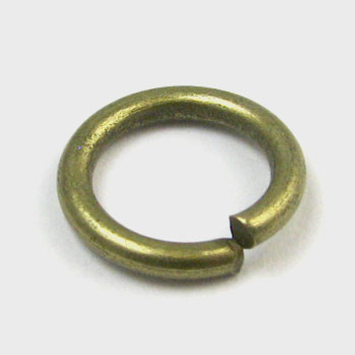 12mm Open Jump Ring, Thick, Antique Brass Plated (pkg of 50)