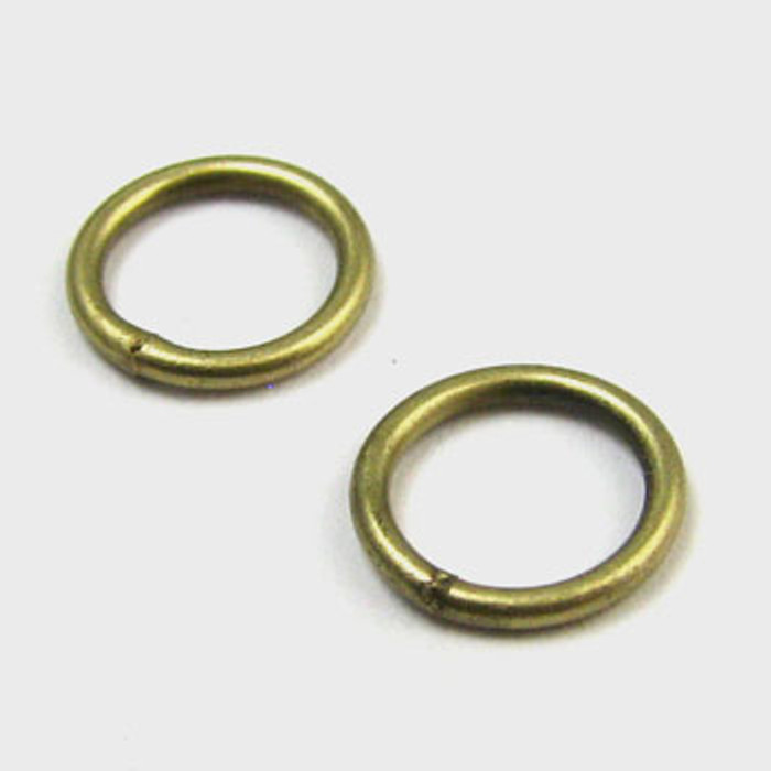 8mm Closed Jump Ring, Antique Brass Plated (pkg of 50)
