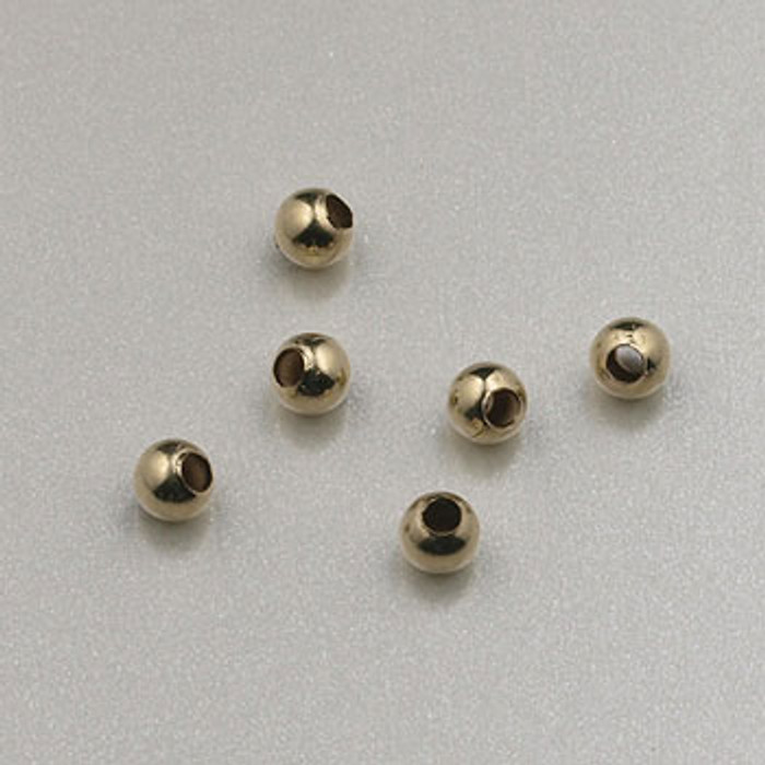 GF0001 - 2mm Round, Gold-Fill