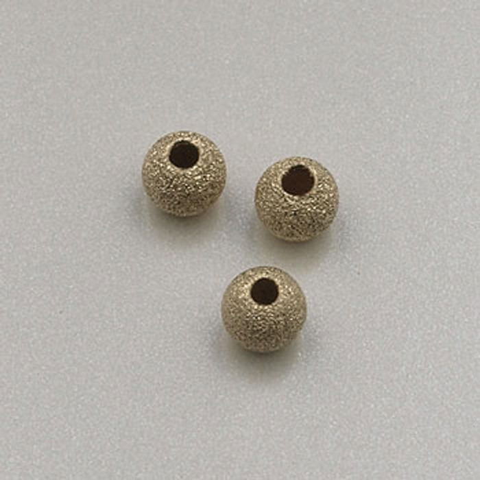 GF0028 - 3mm Round ''Stardust'' Bead, Gold-Fill (pkg of 10)