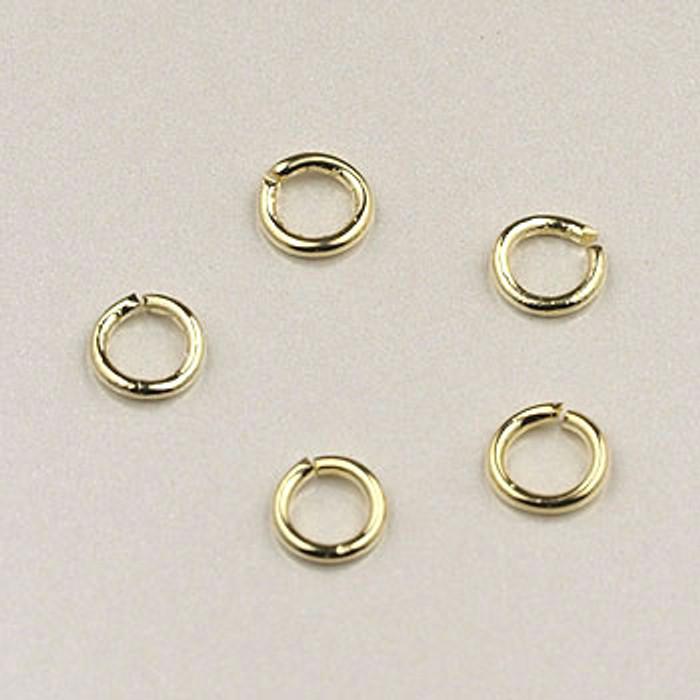 GF0043 - 4mm Jump Rings, Gold-Fill (pkg of 25)