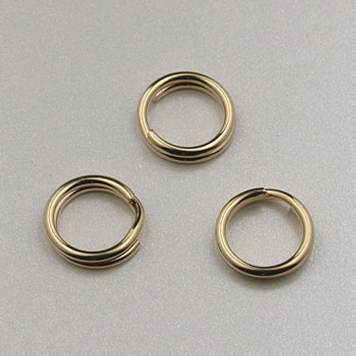 GF0052 - 6mm Split Rings, Gold-Fill (pkg of 25)