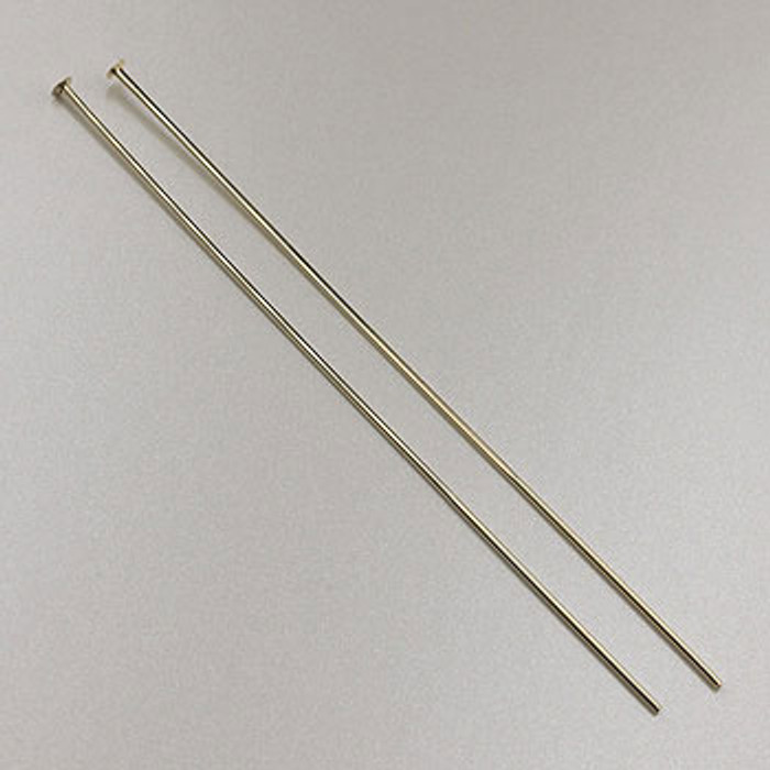 GF0054 - 2-inch 24 Gauge Headpins, Gold-Fill (pkg of 25)