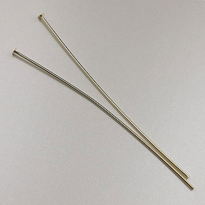GF0055 - 2-inch 22 Gauge Headpins, Gold-Fill (pkg of 25)