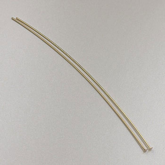 GF0057 - 2-inch 26 Gauge Headpins, Gold-Fill (pkg of 25)
