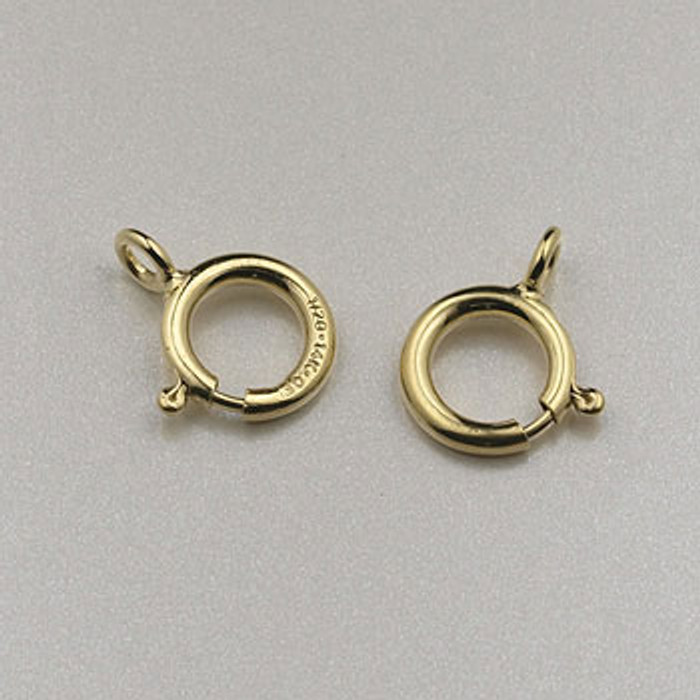 GF0061 - 6mm Spring Ring Clasp, Gold-Fill (pkg of 25)