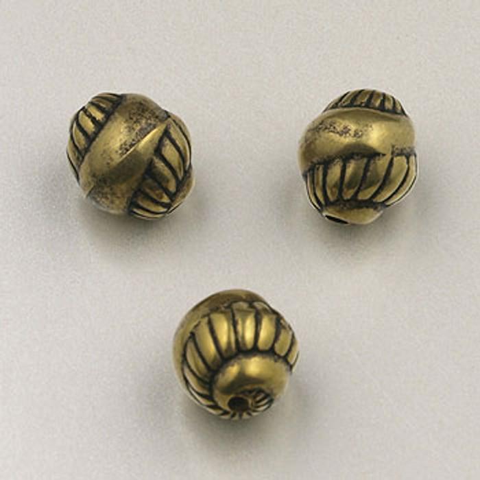 GP0037 - 9mm Snail, Antique Oxidized Gold Plate (pkg of 50)