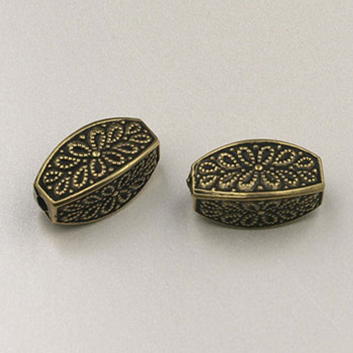 GP0045 - 6x13mm Small Scroll, Antique Oxidized Gold Plate (pkg of 10)