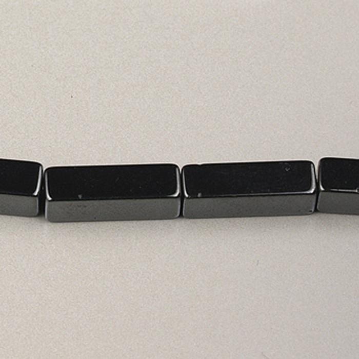 H008 - 4x13mm Rectangle, Hematite (16 in. strand)