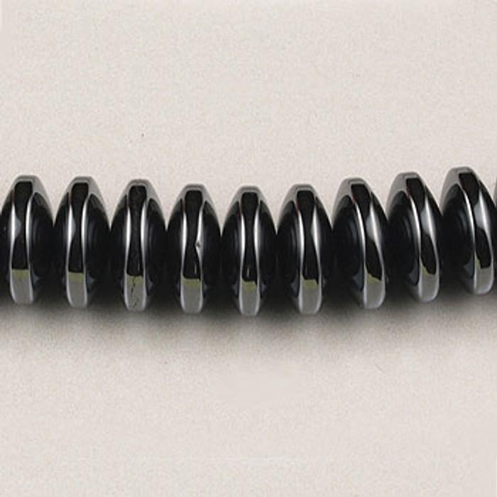 H027 - 8mm Rondelle, Hematite (16 in. strand)