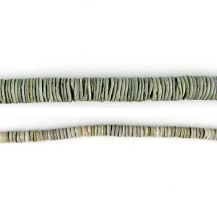 HB0010 - Grey Oyster Heishi Beads (24 in. strand)