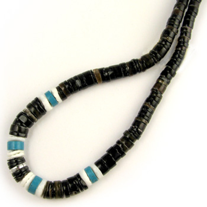 HB0025 - Penshell Tapered Combo Heishi Beads, 4mm-8mm (16 in. strand)
