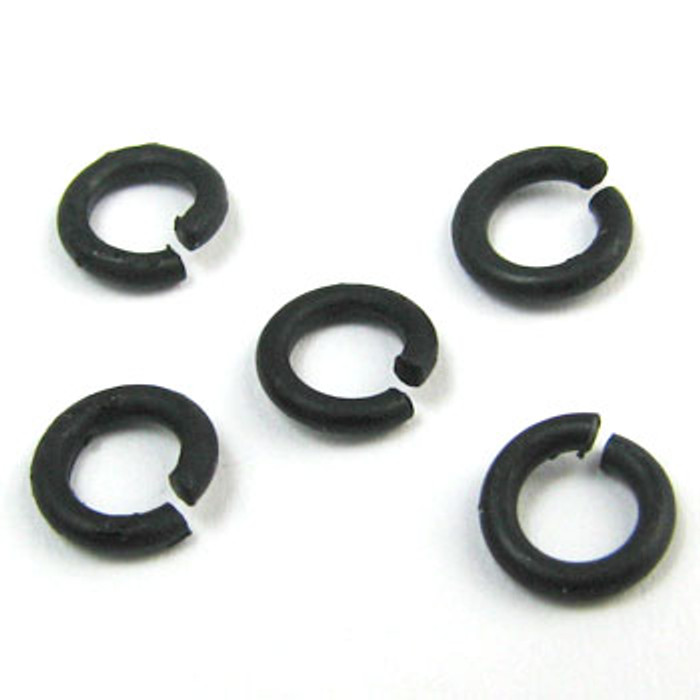 MBP002 - 4mm Open Jump Ring, Matte Black Plated (pkg of 100)