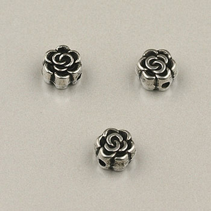 SP0031 - 5mm Flat Rose Silver Plate (pkg of 50)