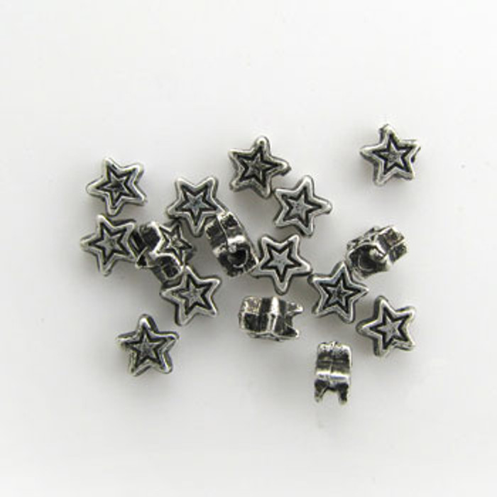 SP0053 - 5mm Star, Silver Plate (pkg of 100)