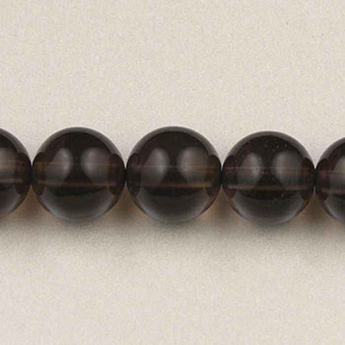 SPS0080 - Smoky Quartz, 4MM Round (16 in. strand)