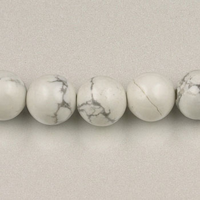 SPS0095 - White Howlite, 4MM Round (16 in. strand)