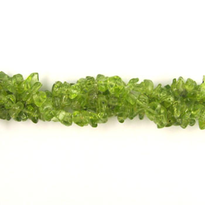 SPSC027 - Peridot Semi-Precious Stone Chip Beads (36 in. strand)