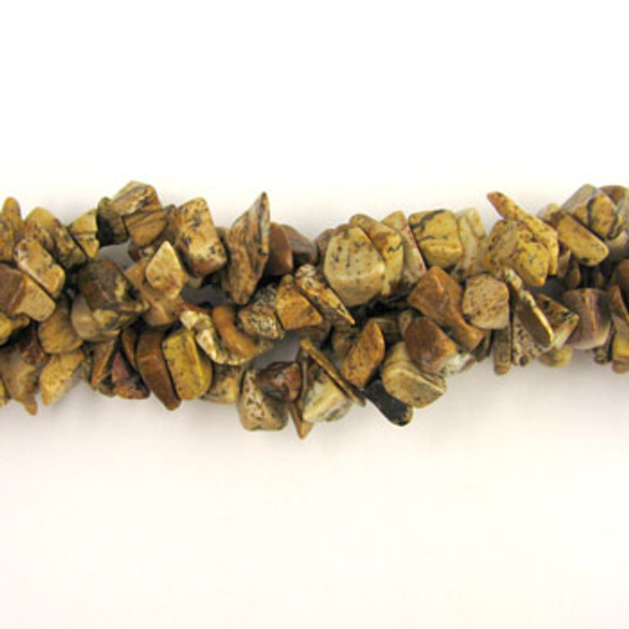 SPSC029 - Picture Jasper Semi-Precious Stone Chip Beads (36 in. strand)