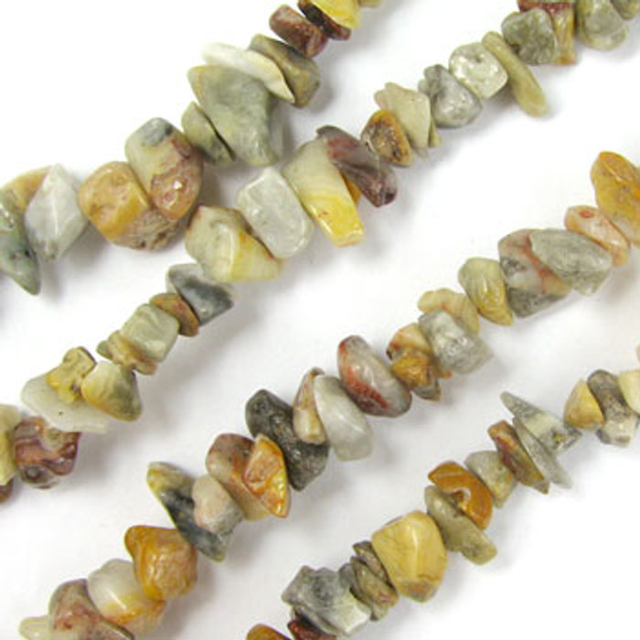 SPSC051 - Crazy Lace Agate Semi-Precious Stone Chip Beads (36 in. strand)