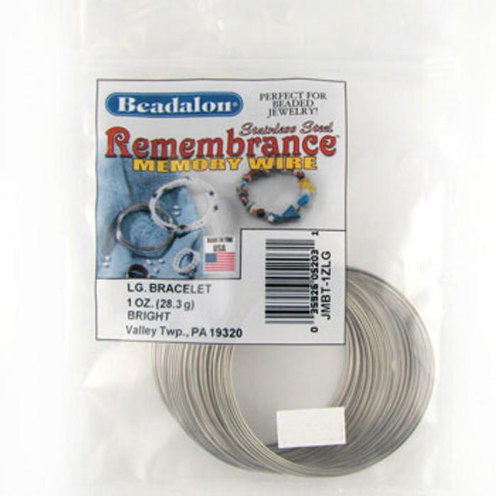STR0046 - Bright, Lg Bracelet, Beadalon Remembrance Memory Wire (JMBT01ZLG) (1 oz)