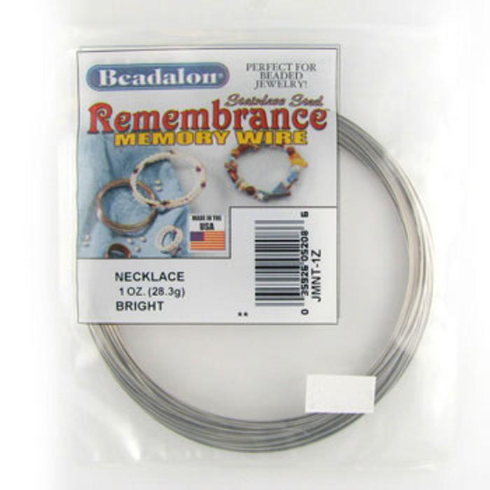 STR0048 - Bright, Necklace, Beadalon Remembrance Memory Wire (JMNT01Z) (1 oz)