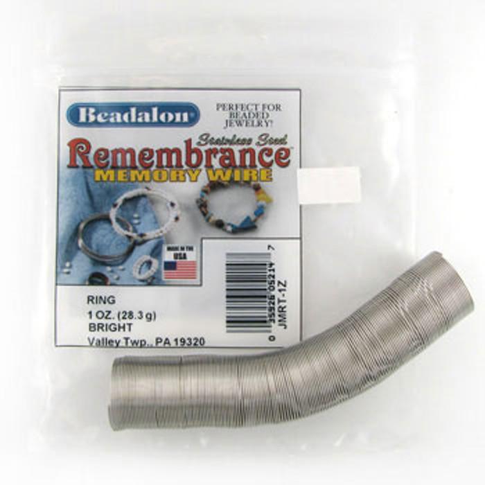 STR0050 - Bright, Ring, Beadalon Remembrance Memory Wire (JMRT01Z) (1 oz)