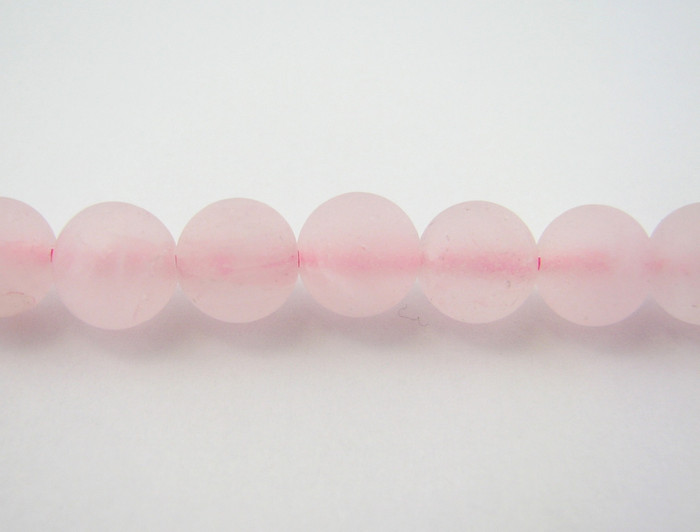 SPS0042 - Matte Rose Quartz, 4mm Round (16 in strand)