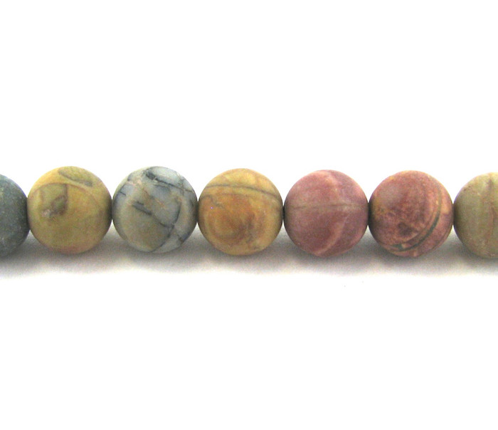 SPS0055 - Matte Red Creek Jasper, 4mm Round (16 in strand)