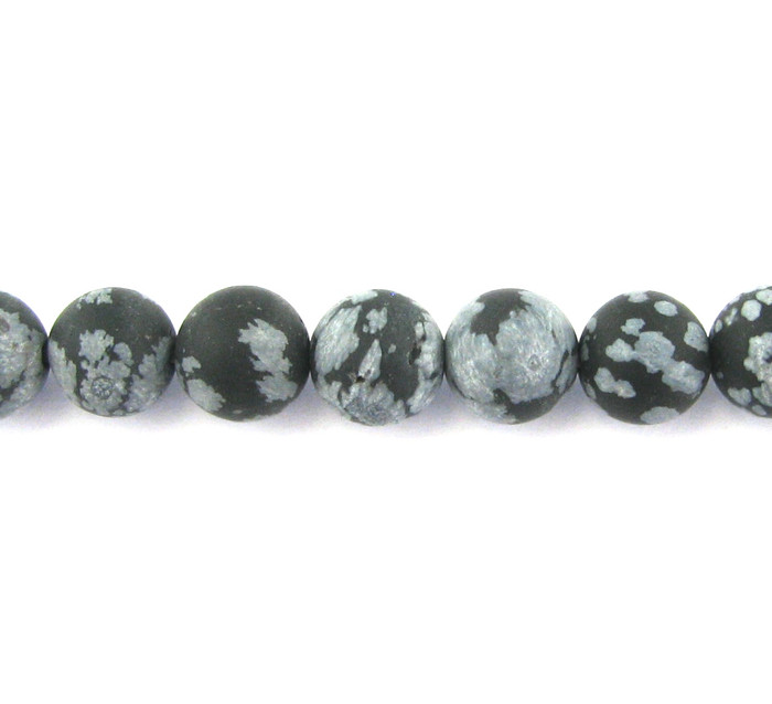 SPS0064 - Matte Snowflake Obsidian, 8mm Round (16 in strand)